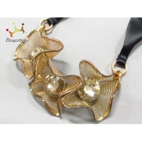 マルニ MARNI ネックレス 美品 ステンレススチール×金属素材 ゴールド×黒       スペシャル特価 20190507