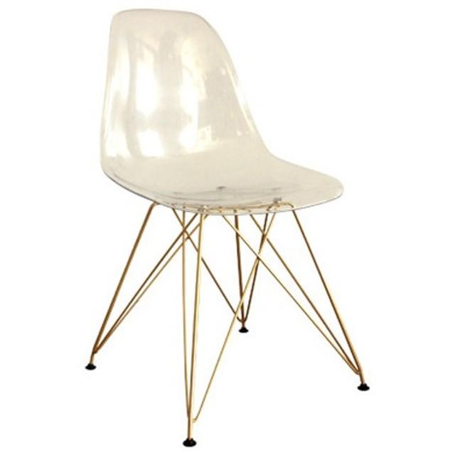 チェア ダイニングチェア ゴールド脚 モダン アクリルチェア いす 椅子 イス デザインチェア リビングチェア モダン おしゃれ クリア 近未来 NARE MARE