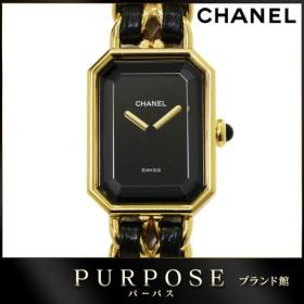 37a7396c34 シャネル CHANEL プルミエール Mサイズ H0001 レディース 腕時計 ブラック 黒 文字盤 クォーツ ウォッチ