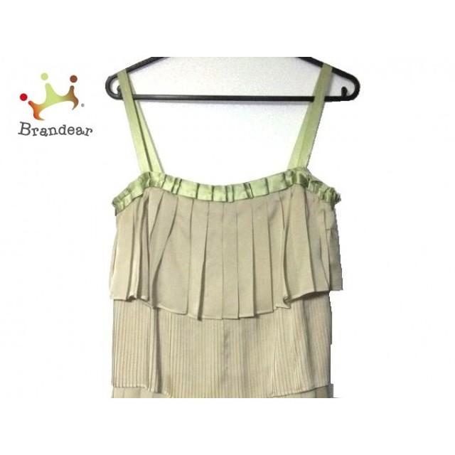 60d3763b44a27 イランイラン YLANG YLANG ドレス サイズS レディース ベージュ×ライトグリーン フリル スペシャル特価 20190417