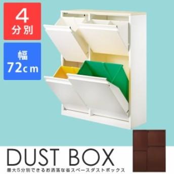 ゴミ箱 分別 ダストボックス 4分別ダストボックス YY-WSB-72 キッチン ごみ入れ くずかご カウンター下ボックス