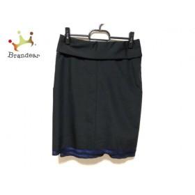 ドゥロワー Drawer スカート サイズ36 S レディース 美品 黒×ネイビー フリル         スペシャル特価 20190928