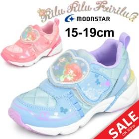 キッズシューズ 女の子 ムーンスター moonstar リルリルフェアリル サンリオ キャラクタ / 15.0-19.0cm 女児 靴/RRF-C001