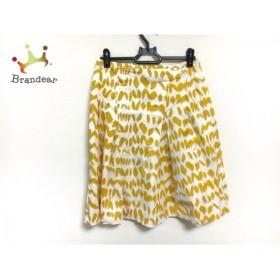 サマンササァング スカート サイズXS レディース 美品 アイボリー×イエロー S.SUNG             スペシャル特価 20190405