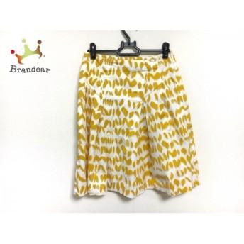 サマンササァング スカート サイズXS レディース 美品 アイボリー×イエロー S.SUNG               スペシャル特価 20191029
