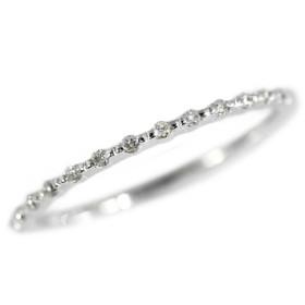 エテ 15P・ダイヤモンドリング・指輪/K10WG/416-0.6g/0.04ct/5号/#45/ホワイトゴールド/ETE 翌日配送可/211598