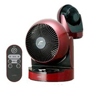 ユーイング 扇風機 DCモーター搭載 サーキュレーター リモコン付 ざくろレッド U・ING UCF-DHR18L-R