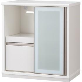 スライド扉のキッチンカウンター(リーフ 80CT WH) ニトリ 『配送員設置』 『5年保証』