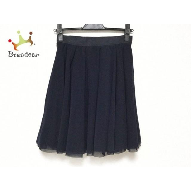 アベニールエトワール Aveniretoile スカート サイズ36 S レディース 美品 黒×ダークネイビー           スペシャル特価 20191007