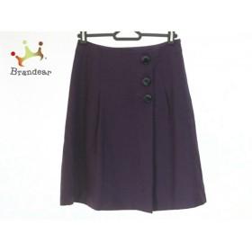 インディビ INDIVI スカート サイズ36 S レディース 美品 パープル            値下げ 20190222
