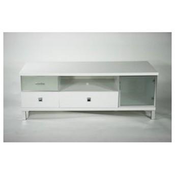 ピアノ塗装 液晶 ローボード テレビ台 ホワイト 完成品 332