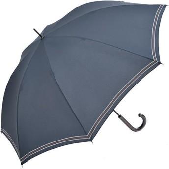 ニフティカラーズ(Nifty Colors) 長傘 プレッピーライン ネイビー 8本骨 65cm 5071NV 通勤通学 雨具 レイングッズ アンブレラ かさ