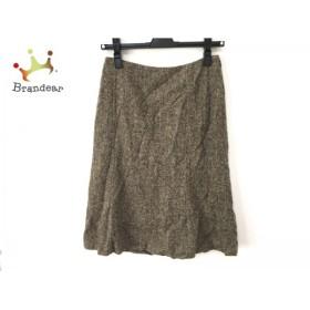 セオリー theory スカート サイズ0 XS レディース 美品 ダークブラウン×アイボリー                   スペシャル特価 20190728