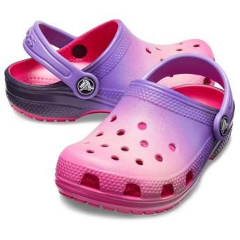 【クロックス公式】 クロックス オンブレ クロッグ キッズ Kids' Classic Ombre Clog ユニセックス、キッズ、子供用、男の子、女の子、男女兼用 ピンク/ピンク 17.5cm,18cm,18.5cm clog クロッグ サンダル