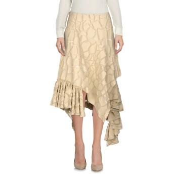 《9/20まで! 限定セール開催中》MAURIZIO PECORARO レディース 7分丈スカート ベージュ 40 コットン 82% / シルク 12% / ナイロン 6%