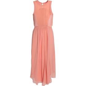 《セール開催中》BAND OF OUTSIDERS レディース 7分丈ワンピース・ドレス ピンク 1 シルク 100% / ポリエステル