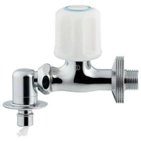 カクダイ:洗濯機用水栓(ストッパー付) 737-001-13