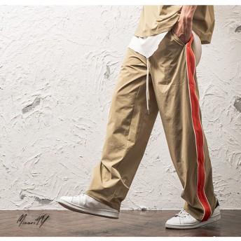 パンツ・ズボン全般 - MinoriTY ワイドパンツ メンズ サイドライン ワイド ライン トラックパンツ 無地 上下 韓国 ファッション メンズファッション モード系ストリート系 サロン系 マイノリティ minority