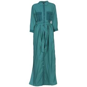 《9/20まで! 限定セール開催中》MANILA GRACE レディース ロングワンピース&ドレス ディープジェード 42 キュプラ 60% / コットン 40%