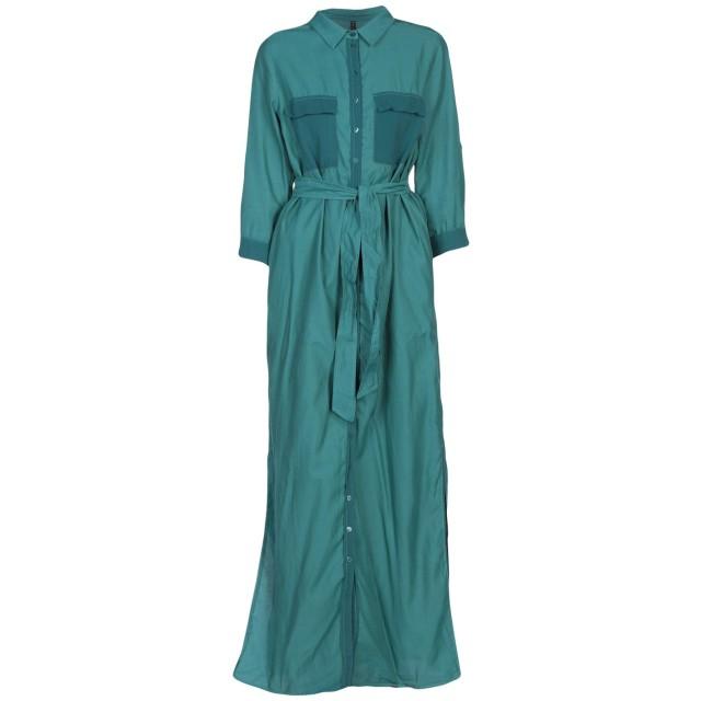 《期間限定セール開催中!》MANILA GRACE レディース ロングワンピース&ドレス ディープジェード 42 キュプラ 60% / コットン 40%