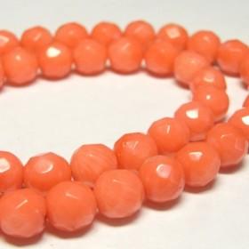 珊瑚(染色) 連販売 ピンク ラウンドカット 約8mm 3000682