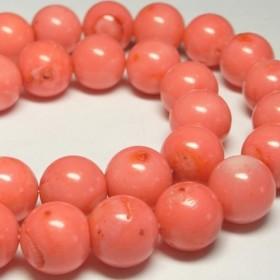 珊瑚(染色) 連販売 ピンク ラウンド 約12-13mm 3000707