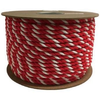 ユタカ アクリル紅白ロープ 12mm×100m PRZ65 7948077