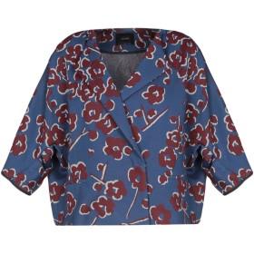 《セール開催中》ODEEH レディース テーラードジャケット ブルー 36 コットン 67% / ポリエステル 33%