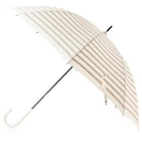 パサージュミニョン ボーダープリント晴雨兼用長傘 レディース オフホワイト(003) 00 【passage mignon】