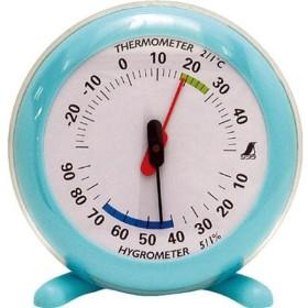 【メーカー在庫あり】 70496 シンワ測定(株) シンワ 温湿度計Q-2 丸型10cmライトブルー JP