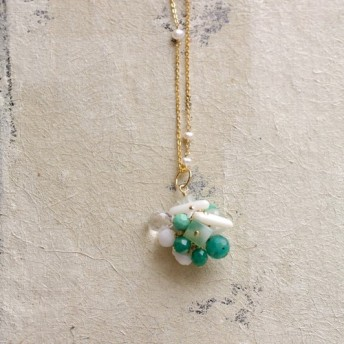fusa: green Bouquet / 花 玉房(charms)
