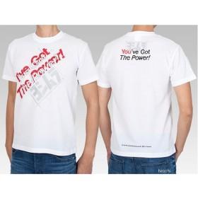 900-217-410L ヨシムラ Tシャツ I've Got The Power! 白 Lサイズ JP店