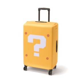 スーツケースカバー ハテナブロック