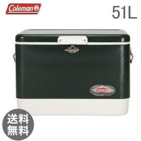 【あすつく】 コールマン Coleman 54QT スチールベルトクーラー グリーン 6154B720 クーラーボックス【5%還元】