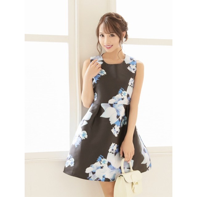 6361bfa046b7a ワンピース - Ryuyu キャバ ドレス キャバドレス キャバクラ キャバワンピース パーティードレス RyuyuChick 花柄 フレアー