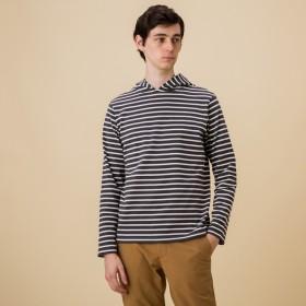 AIGLE メンズ メンズ 吸水速乾 バスク プルパーカー Tシャツ ZTH024J ASPHALTE (007) Tシャツ