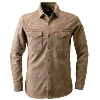 I'Z FRONTIER(アイズフロンティア):No.7251 ストレッチ 3D ワークシャツ カラー:キャメル サイズ:M