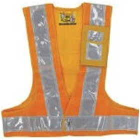 緑十字 多機能安全ベスト(ポリス型) 黄/白反射 フリーサイズ ポケット3箇所付(1着) 238083 4413113