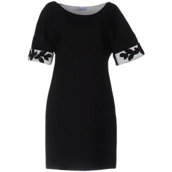 《9/20まで! 限定セール開催中》BLUMARINE レディース ミニワンピース&ドレス ブラック 42 コットン 92% / ポリウレタン 8%