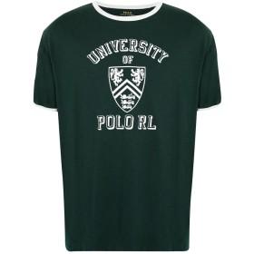 《期間限定セール開催中!》POLO RALPH LAUREN メンズ T シャツ ダークグリーン S コットン 100% Custom Slim Fit Cotton T-Shirt