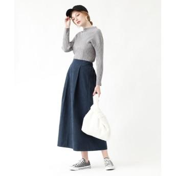 その他スカート - titivate ピーチスキンタックフレアロングスカート/ボリューム感が控えめなので大人っぽい雰囲気/ボトムス/レディース/スカート/フレアスカート/ロング丈/ピーチスキン/タック