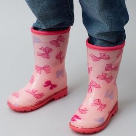 ミキハウス リボンいっぱい レインブーツ(長靴) ピンク