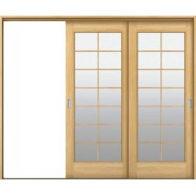YKKAP室内引戸 ラフォレスタ[オーソドックス] 2枚片引き戸 BC ノンケーシング枠:[幅2433mm×高2033mm] YKK YKK室内引戸 室内引き戸 室内建具 木製