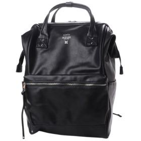 アネロ Premium Clasp 口金リュック フェイクレザー 正規品 (AT-B1511) デイパック : ブラック