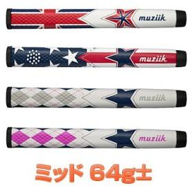 Muziik(ムジーク)日本正規品 TAPERLESS(テーパーレス) ゴルフグリップ(パター用) 「ミッドサイズ PWE3V」