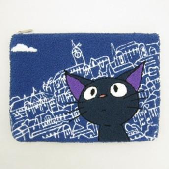 ジジ 相良刺繍ポーチ (フラットポーチ/小物入れ) コリコの街のジジ (となりのトトロ) スタジオジブリ