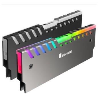 JONSBO NC-2-RGB(2枚セット) RGB対応 メモリヒートスプレッダ 3ピンファンコネクタ接続版