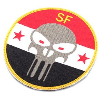 KA-AC-6052-CO US SF Skull Iraq Embroidery Patch