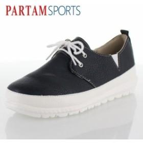 PARTAM SPORTS パータムスポーツ 靴 710 スニーカー シューズ スリッポン スポーティ シンプル ネイビー ブラック レディース