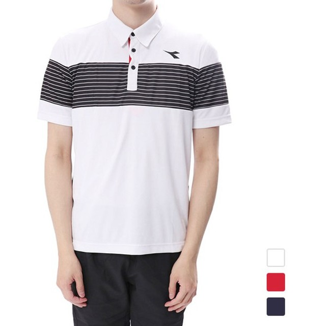 155e5747242eb ディアドラ メンズ テニス 半袖ポロシャツ ゲームシャツ DTG8338 DIADORA ...